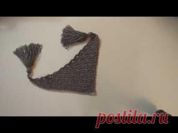 МК узор для шали, бактуса или плотка крючком. МК шаль, бактус или платок. Урок 2