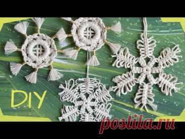 DIY Macrame Snowflakes EASY