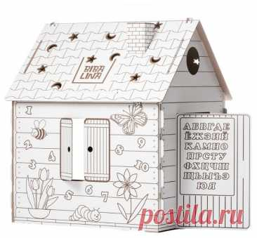 BibaLina Раскраска картонный домик КДР03-001 — купить по выгодной цене на Яндекс.Маркете
