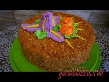 Украшение торта белково заварным кремом в домашних условиях ЦВЕТОЧНАЯ КОМПОЗИЦИЯ - YouTube