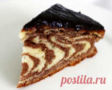 Торт «Зебра» — коронное блюдо моей соседки
