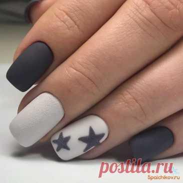 Звездный маникюр - фото стильного дизайна ногтей