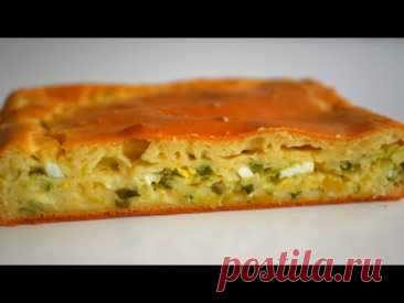 Jellied pie with young cabbage