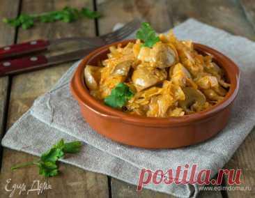 Как приготовить Тушеная капуста с шампиньонами Пошаговый рецепт с ингредиентами и фото