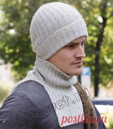 Вязаная шапка и манишка для мужчин - Хитсовет