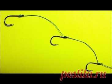 Как привязать крючок к леске без узла no knot | безузловой узел для рыбалки NoKnot | рыболовные узлы - YouTube