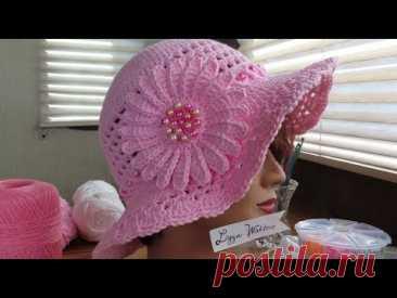 Part 4 Crochet Sparkly Summer Sun Hat