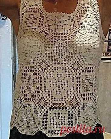 Схема узора вязания крючком для красивой кофточки