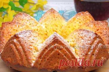 Пышный пирог с тыквой – рецепт с фото