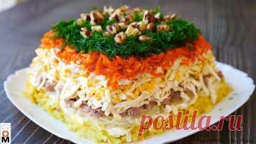Салат «Старая гавань» с печенью трески Вкусный слоеный салат с печенью трески. Для приготовления вам потребуются такие ингредиенты: …
