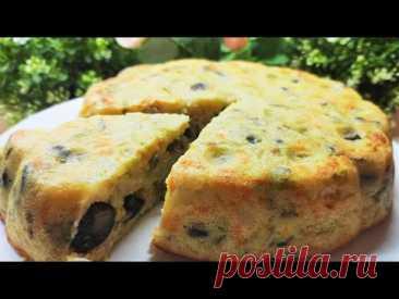 Капустный пирог с грибами - вкусняшка для худеющих с идеальным КБЖУ!🔥