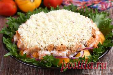 Мой любимый слоеный салат! Готовится просто, отлично с мясом, рыбой или морепродуктами - Образованная Сова