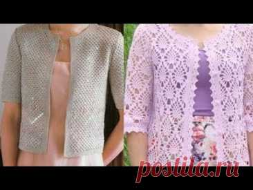Женский жакет крючком - Women's Crochet Jacket
