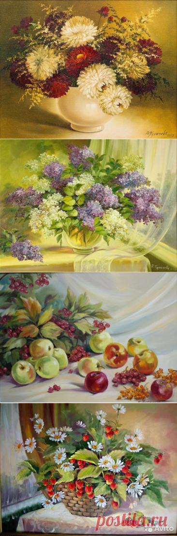 Прекрасные натюрморты Н.Пуничевой