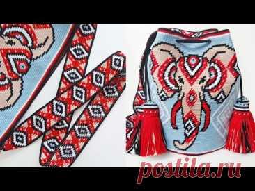 Сумка Мочила. Часть 3: Ремень - Схема, Процесс вязания / Mochila bag. Part 3: Crochet strap