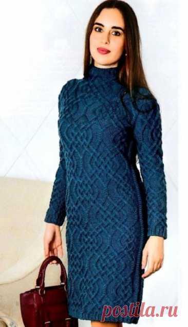Вяжем красивое женское платье