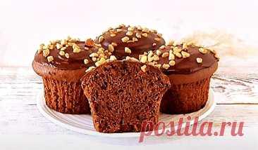 Веганские шоколадные маффины Десерты