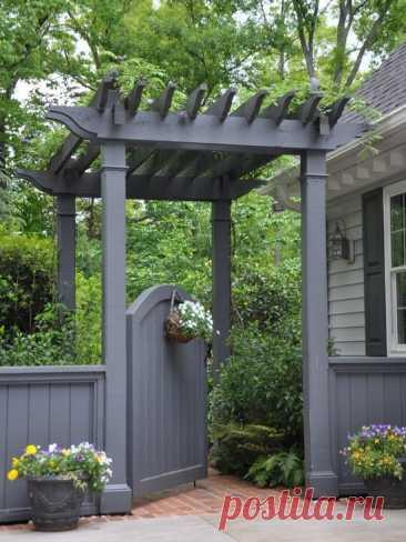 Красивый дизайн садовых ворот | Hometalk