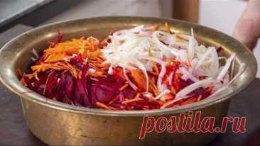 """Этот салат вы будете готовить всю зиму. Салат из капусты """"Кремлевская Хряпа"""". Любимый салат Брежнева"""