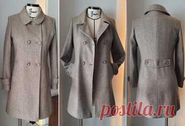 Casaco sobretudo transpassado trench coat Esquema de modelagem de casaco sobretudo transpassado tipo trench coat do tamanho 36 ao 56.