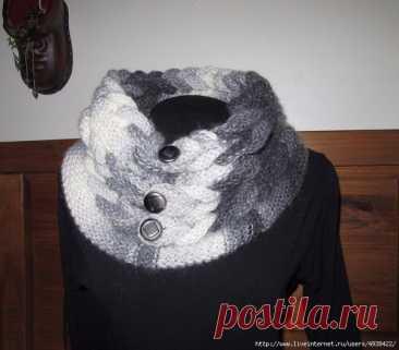 Красивый и оригинальный шарф в виде воротника