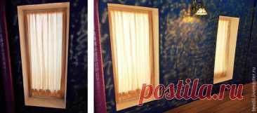 Как просто и экономично оформить оконный проём шторами | Журнал Ярмарки Мастеров