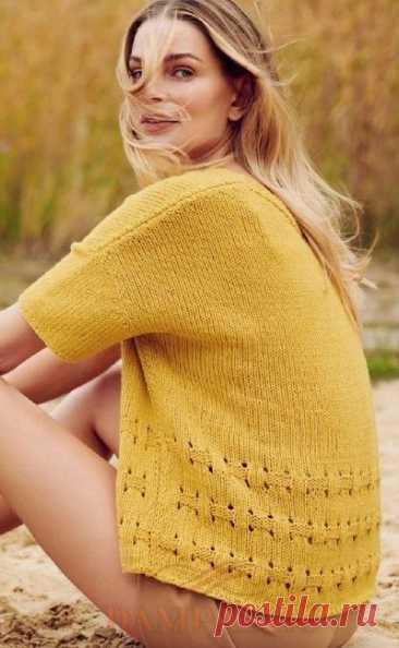 Пуловер с короткими рукавами «Fourseason»