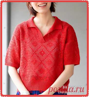 Лето по японски. 15 моделей спицами и крючком.   Все вяжут.соm/Everyone knits.com   Яндекс Дзен
