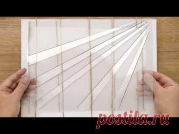Картина леса натянуть веревку | Техника покраски пленки OHP | Легкая этикеточная бумажная наклейка