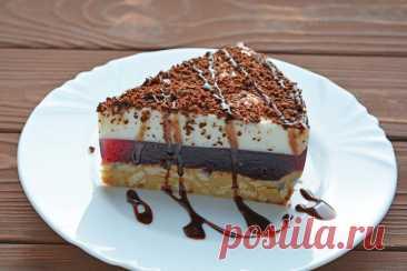 Желейный торт без выпечки - вкусное лакомство