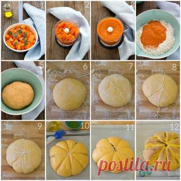 Схема выпечки хлеба- тыквы. Порадуйте себя и детишек. )