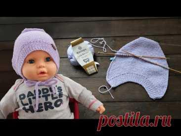 Новая шапочка малышу на двух спицах 👌🏻 НОВЫЙ СПОСОБ - Детская бесшовная шапка