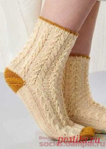 Вязаные носки «Wild Barley» | ВЯЗАНЫЕ НОСКИ