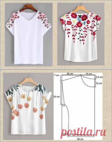 50 простых летних блузок с построением выкроек - шьем и готовимся к жаркому лету   МНЕ ИНТЕРЕСНО   Яндекс Дзен