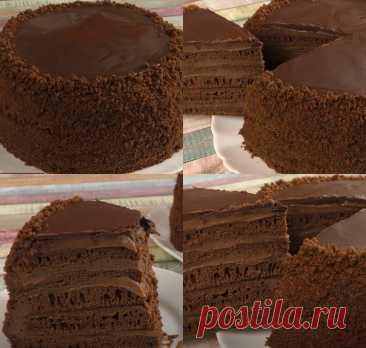 ШОКОЛАДНЫЙ ТОРТ КОТОРЫЙ ЛЕГКО ГОТОВИТЬ Любимый торт моей семьи  Ингредиенты (d сковороды 24см, вес торта 1,3кг): Для коржей: - 3-4 с л мёд - 1,5 ч л сода - 110 г сл.масло - 4 яйца - 100 г сахар (или 120 г) - 2 ст л какао с горкой - 200 г муки (10-11 ст л с горкой)  Для масляно-заварного крема: - 180 г сахар - 3 ст л муки с горкой - 1 яйцо - 1п (10г) ванильного сахара - 500 мл молоко - 200-250 г мягкого сл.масло - 2 ст л какао (по желанию)  Для шоколадного ганаша: - 50 гр ш...