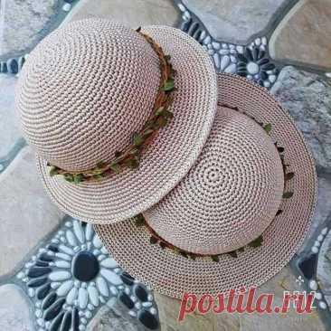 Схема для шляпки крючком