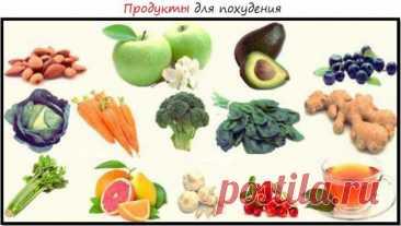 Список продуктов для похудения — ДОМАШНИЕ