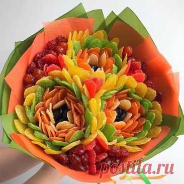 Яркие букеты из сухофруктов: идеи для творчества и подарков любимым
