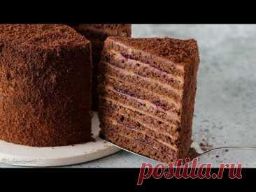 ТАЕТ ВО РТУ ✶ САМЫЙ НЕЖНЫЙ ТОРТ ✶ Шоколадный торт с черной смородиной