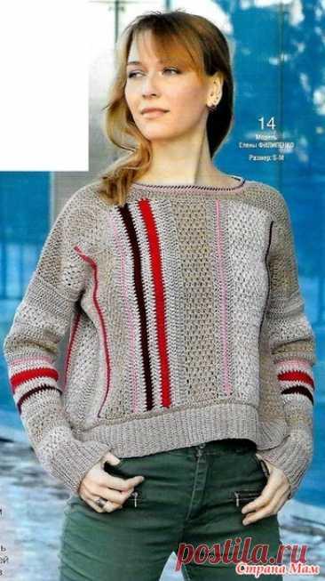 """Пуловер """"Мармелад"""" - Все в ажуре... (вязание крючком) - Страна Мам"""