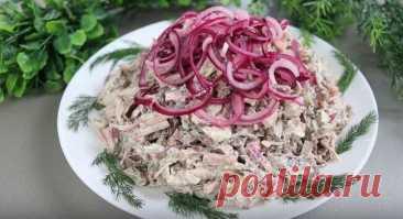 Мясной Салат Мужики Очень Сытный и Вкусный Мясной салат Мужики - подробный рецепт с фото. Салат получается очень вкусным сытным и оригинальным. Такое блюдо непременно понравится всем мужчинам.