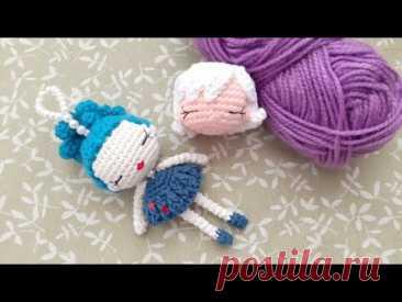 Muñeca Kriss llavero tejido crochet - tejemos cabeza brazos piernas