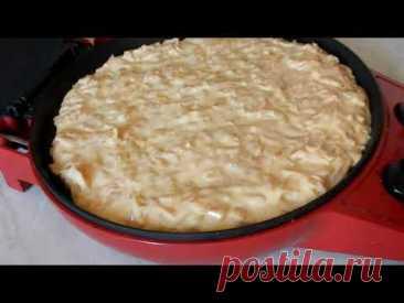 Капустный пирог на кефире за 15 мин  в мультипечи  и яблочный в подарок)