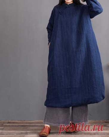 Women Winter long dresses Longsleeve dress Winter Robes | Etsy
