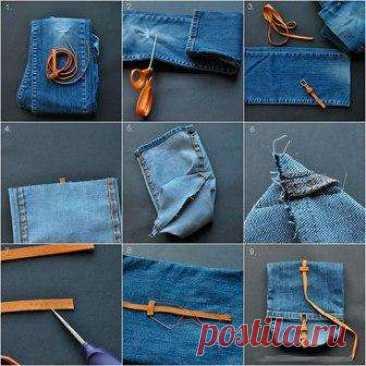 Что можно сшить из старых джинсов своими руками со схемами. Фото
