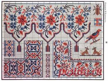 Сборник русских народных схем-узоров для вышивания крестом