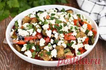 Из баклажана, перца и брынзы готовлю очень вкусный салат (рецепт с фото) | Совет да Еда | Яндекс Дзен