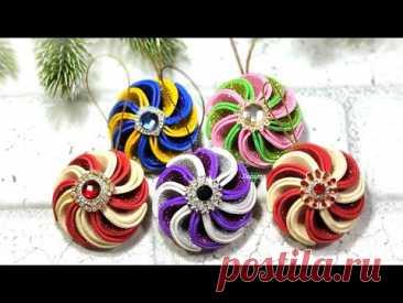 НОВОГОДНИЕ ИГРУШКИ 🎄 своими руками из фоамирана / Amazing  Christmas diycraft