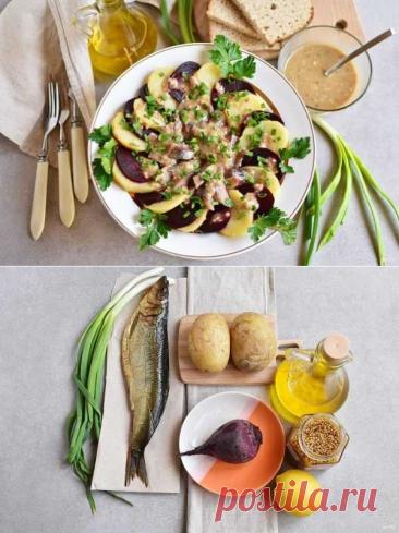 Салат из копченой рыбы | Вкусные кулинарные рецепты
