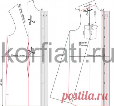 Модное платье-рубашка своими руками - выкройка Анастасии Корфиати
